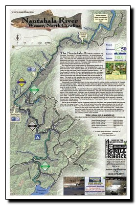 Nantahala River North Carolina Map Trout Pro Store