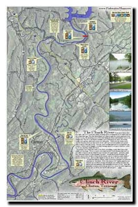 Trout Fishing In Tennessee Map.Map Of Clinch River Tennessee Trout Pro Store