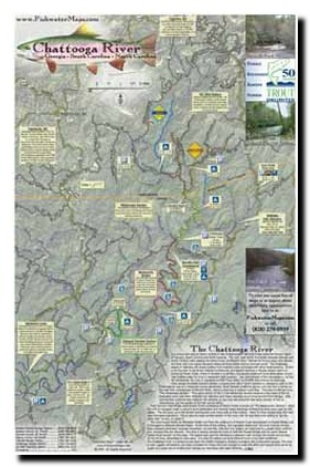 Trout Fishing In Tennessee Map.Map Of Chattooga River South Carolina Trout Pro Store